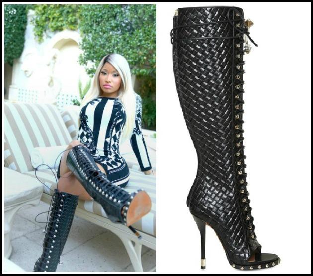 97e33411a8d Ooh La Blog Tag Archive Nicki Minaj Twitter Balmain Dress