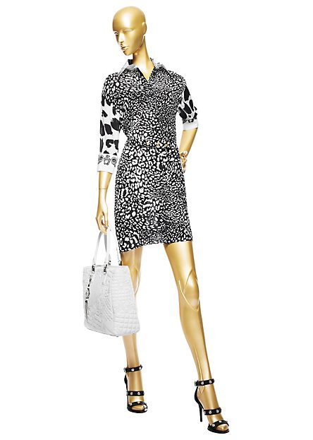 Ciara-Instagram- Versace-Small- Leopard-Shirt- Dress-Sergio- Rossi-Loop- Pumps-5