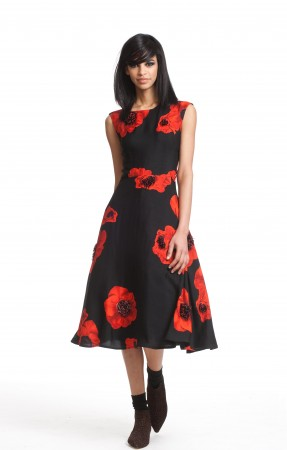 Michelle- Obama- March-on- Washington- 50th- Anniversary- Tracy-Reese- Embellished- Flared-Frock-12