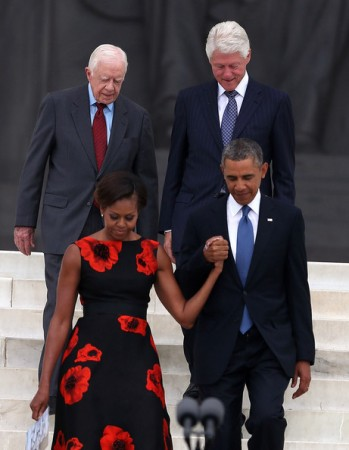 Michelle- Obama- March-on- Washington- 50th- Anniversary- Tracy-Reese- Embellished- Flared-Frock-7