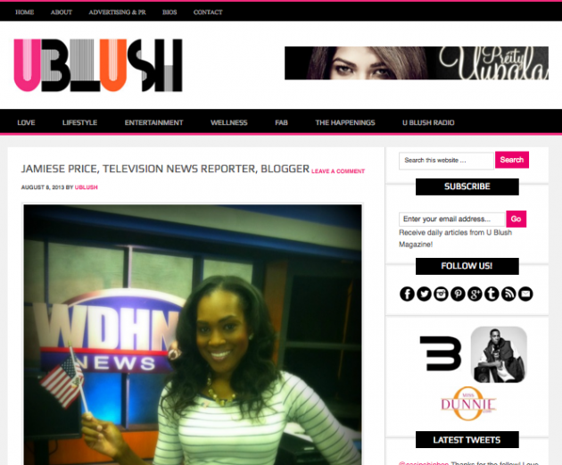 U Blush Magazine Feature
