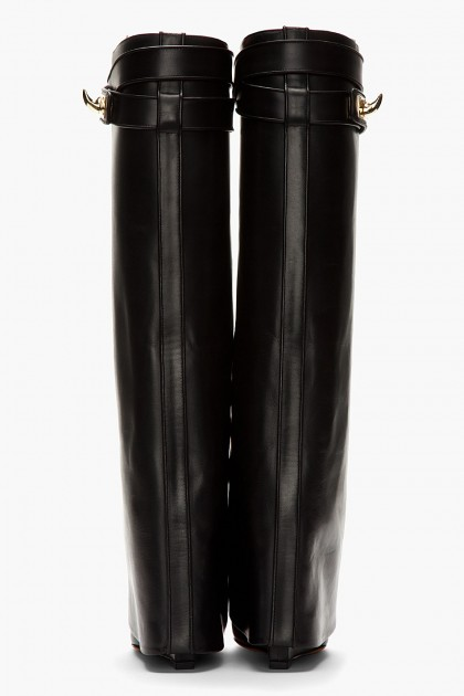 givenchy-black-black-leather-shark-lock-wedge-boots-