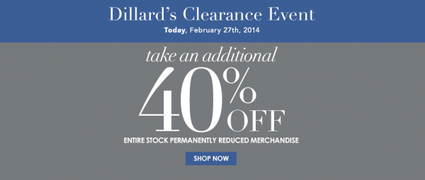 Dillards Clearance Event