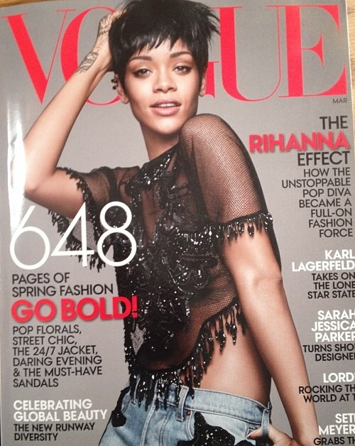 Rihanna-Poses-for- Vogue-March- 2014-