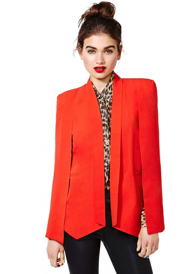 nasty-gal-gold-champagne-taste-cape-blazer-red-