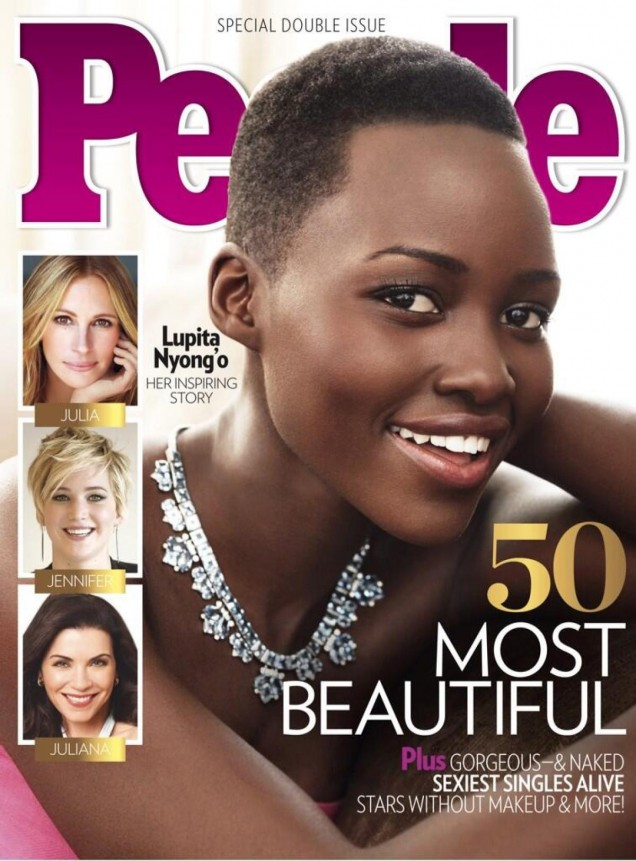 Magazine-Fab-Lupita-Nyongo- Crowned-People- Magazine-Most Beautiful-Person-