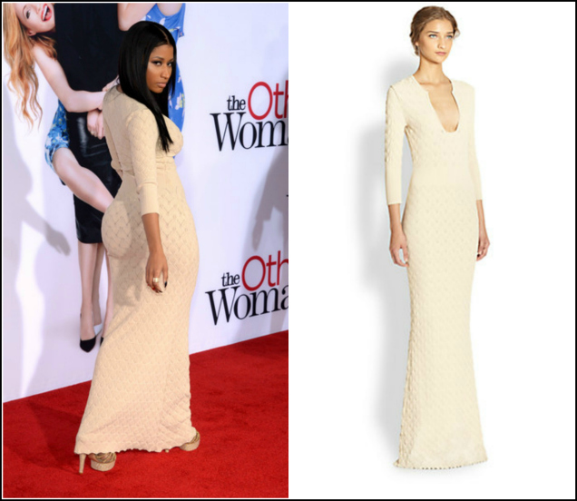 Snag-Her-Style-Nicki- Minaj-The-Other- Woman-LA-Premiere-  Alexander-McQueen- Knit-Gown-8