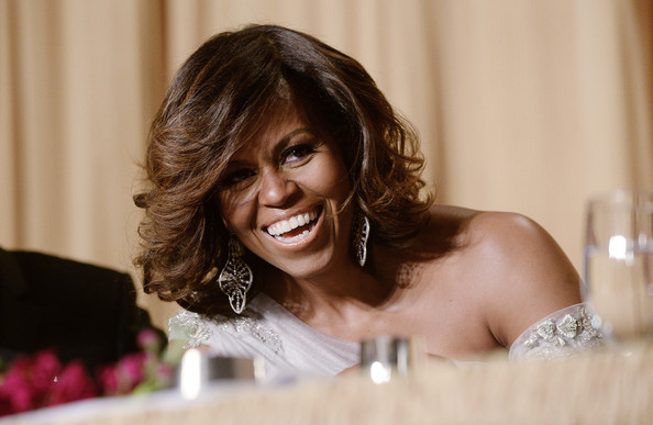 Michelle-Obama-in Marchesa-100th-Annual-White-House-Correspondents-dinner-