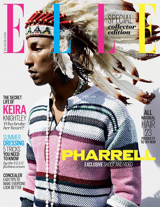 Pharrell-Williams- Covers-Elle-UK-July-2014-