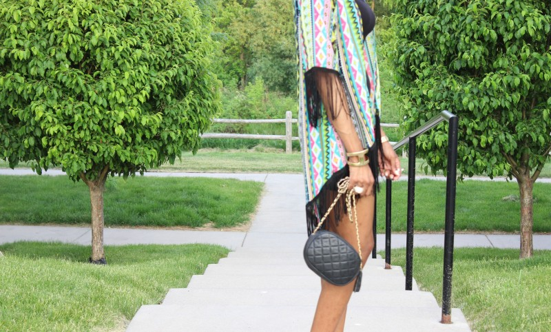 StyleFiles- with-PrettyPrice-Aztec-Fringe-kimono-Just-Fab-Paean - Seafoam-Ankle-Strap-heels-Black-Forever-21-Basc-Dress-5
