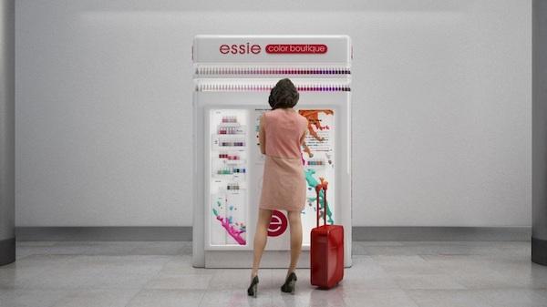 Essie Launching Vending Machine Full of Nail Polish