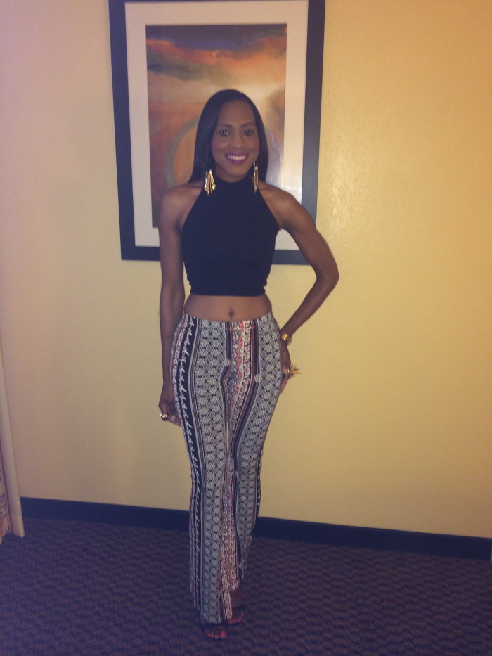 Style-Files-with-pretty-price-Love Tree-Happens-Bell-Bottoms- Xhilaration-Crop- Halter-Top- Nasty-Gal-Shoe Cult-Sandals-2