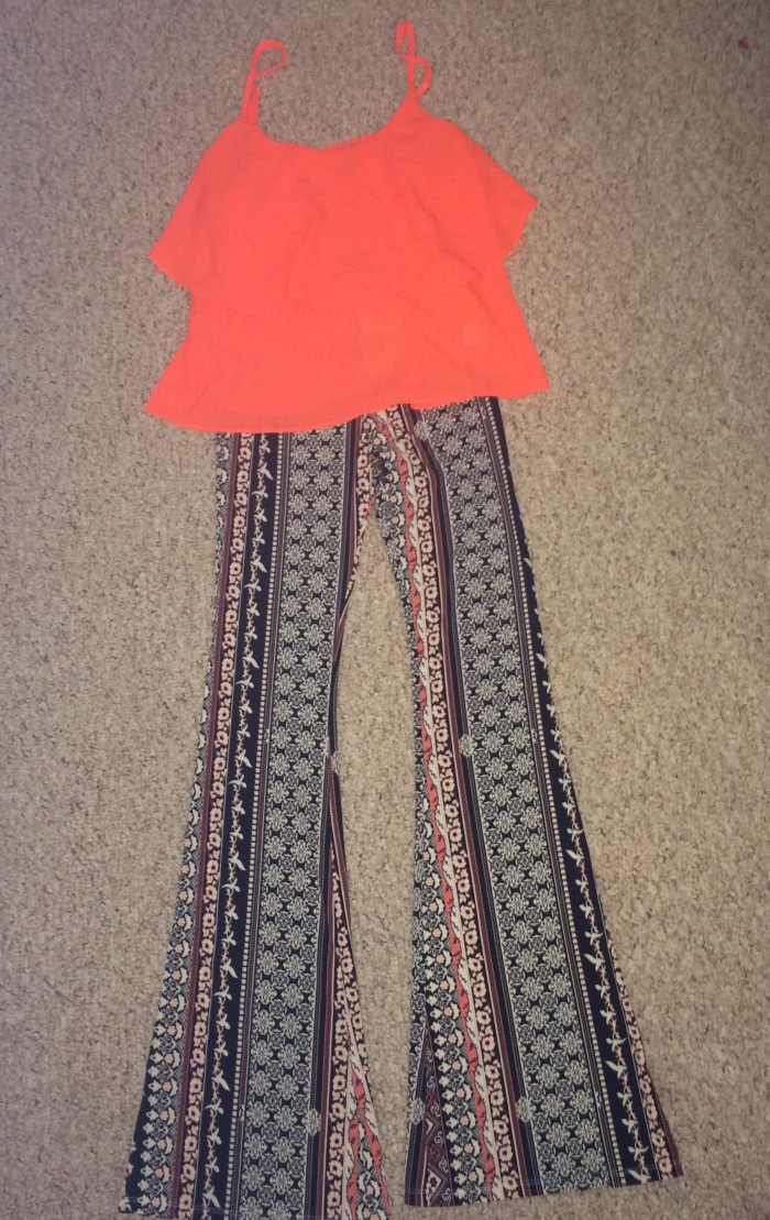 Style-Files-with-pretty-price-Love Tree-Happens-Bell-Bottoms- Xhilaration-Crop- Halter-Top- Nasty-Gal-Shoe Cult-Sandals-4