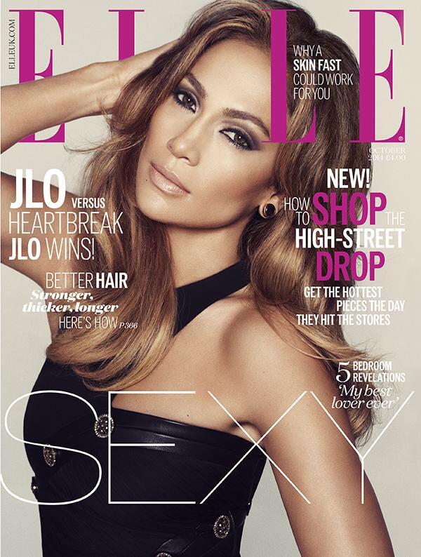 Jennifer Lopez is ELLE UK October Cover Girl