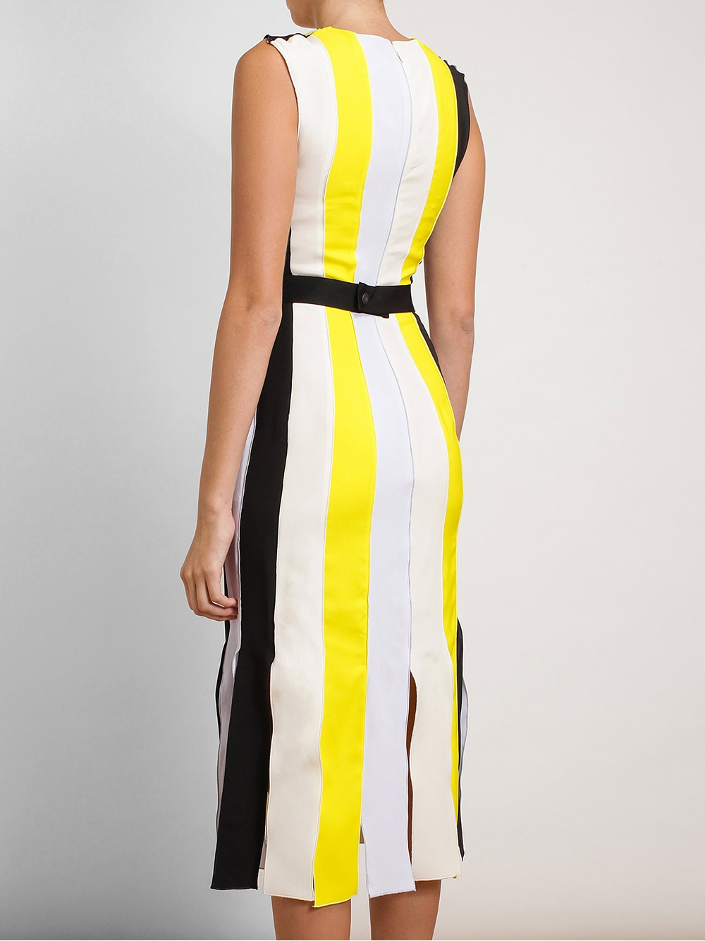 Being-mary-jane-roksanda-ilincic-yellow-wyatt-pleated-crepe-dress-being mary-jane-striped-dress-season-two-episode-six-