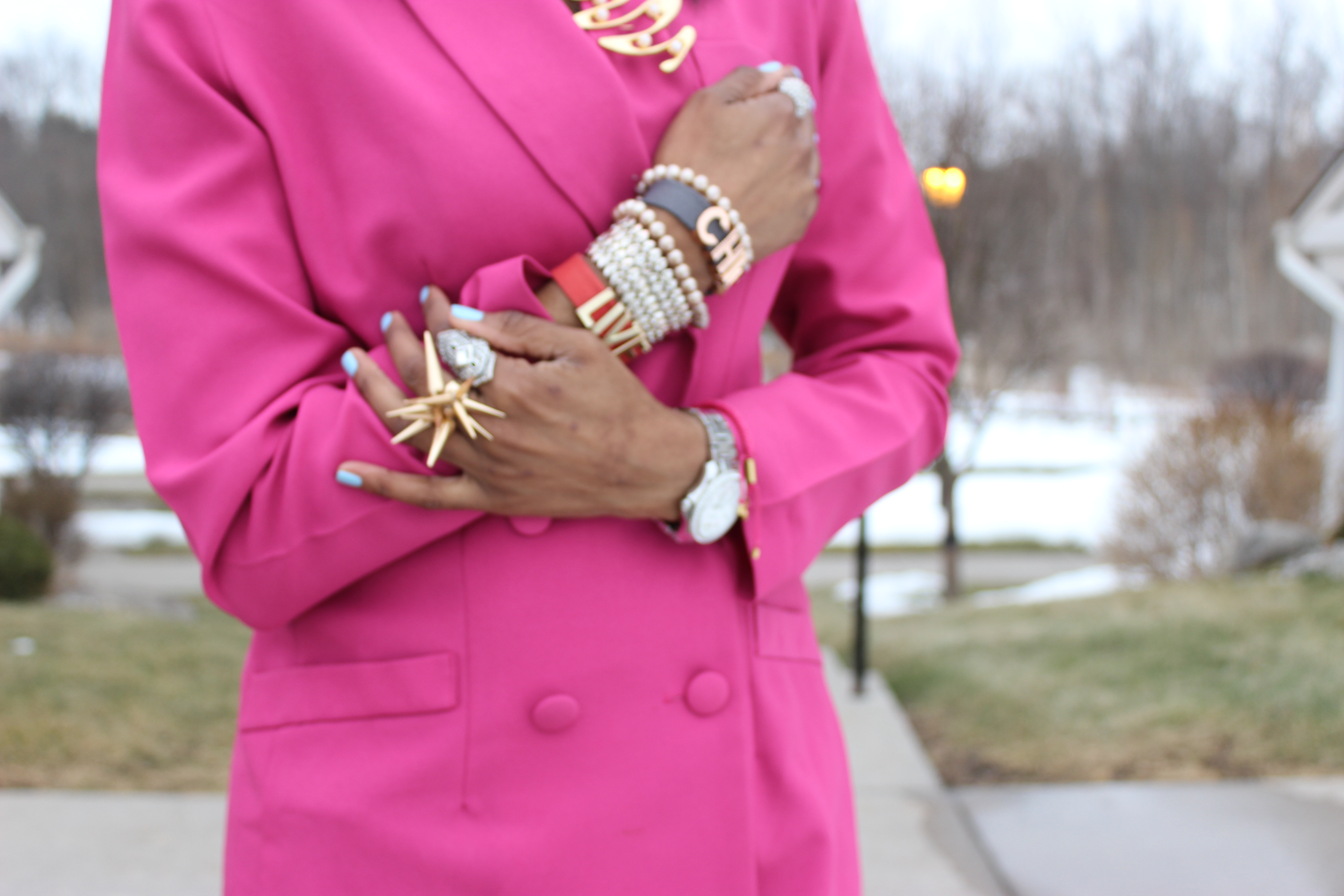 Style-Files-Hot-Pink-Blazer-Distessed-Jeans-Just-fav-over-the-knee-boots-bebe-shaggy-chic-coat-Pretty-Price-2