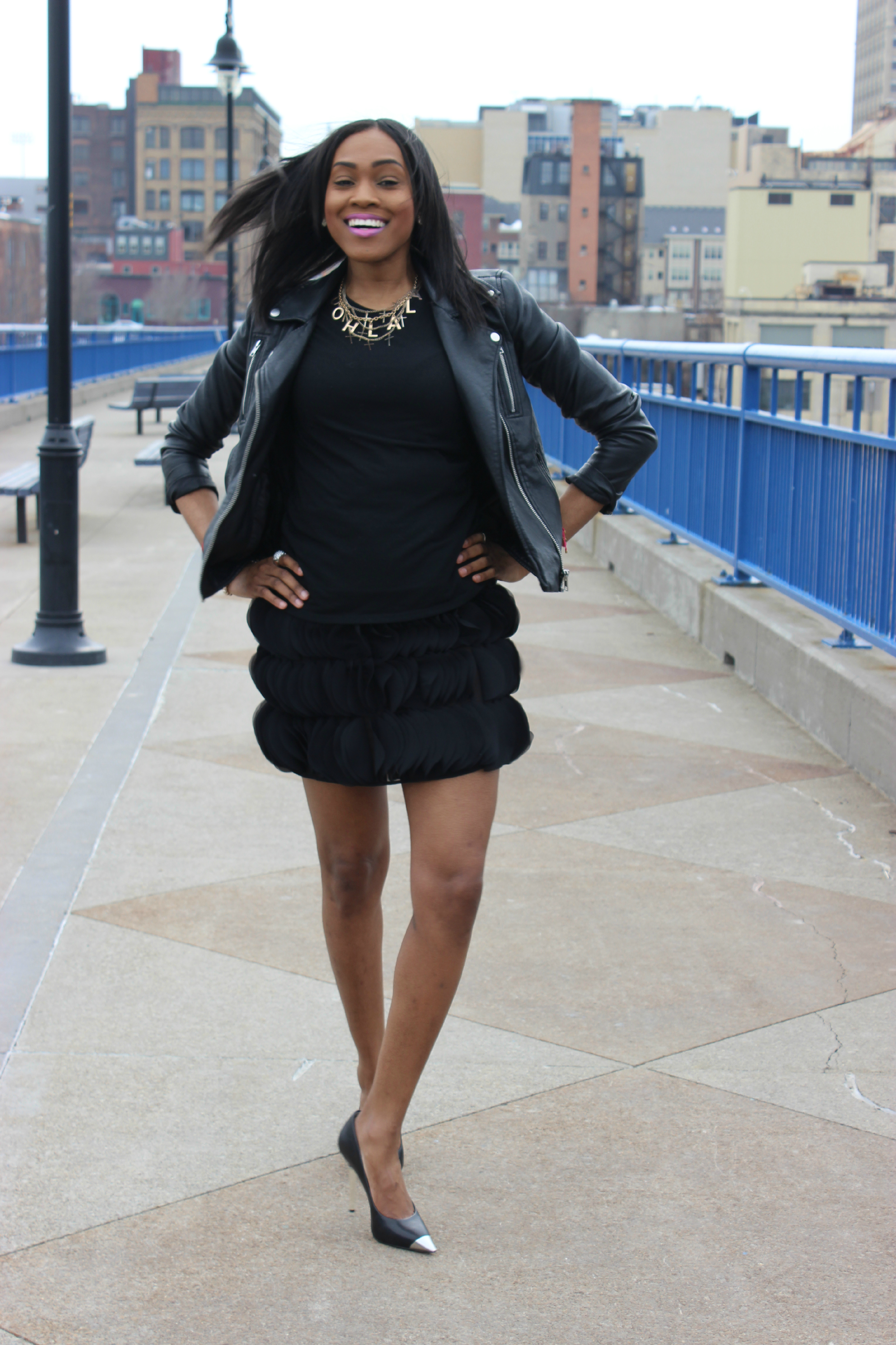 Style-files-Pretty-Price-Black -Moto-Jacket-Michael Kors-Silve-heel-PumPs-Thrifted-Skirt-Oohlalablog-17