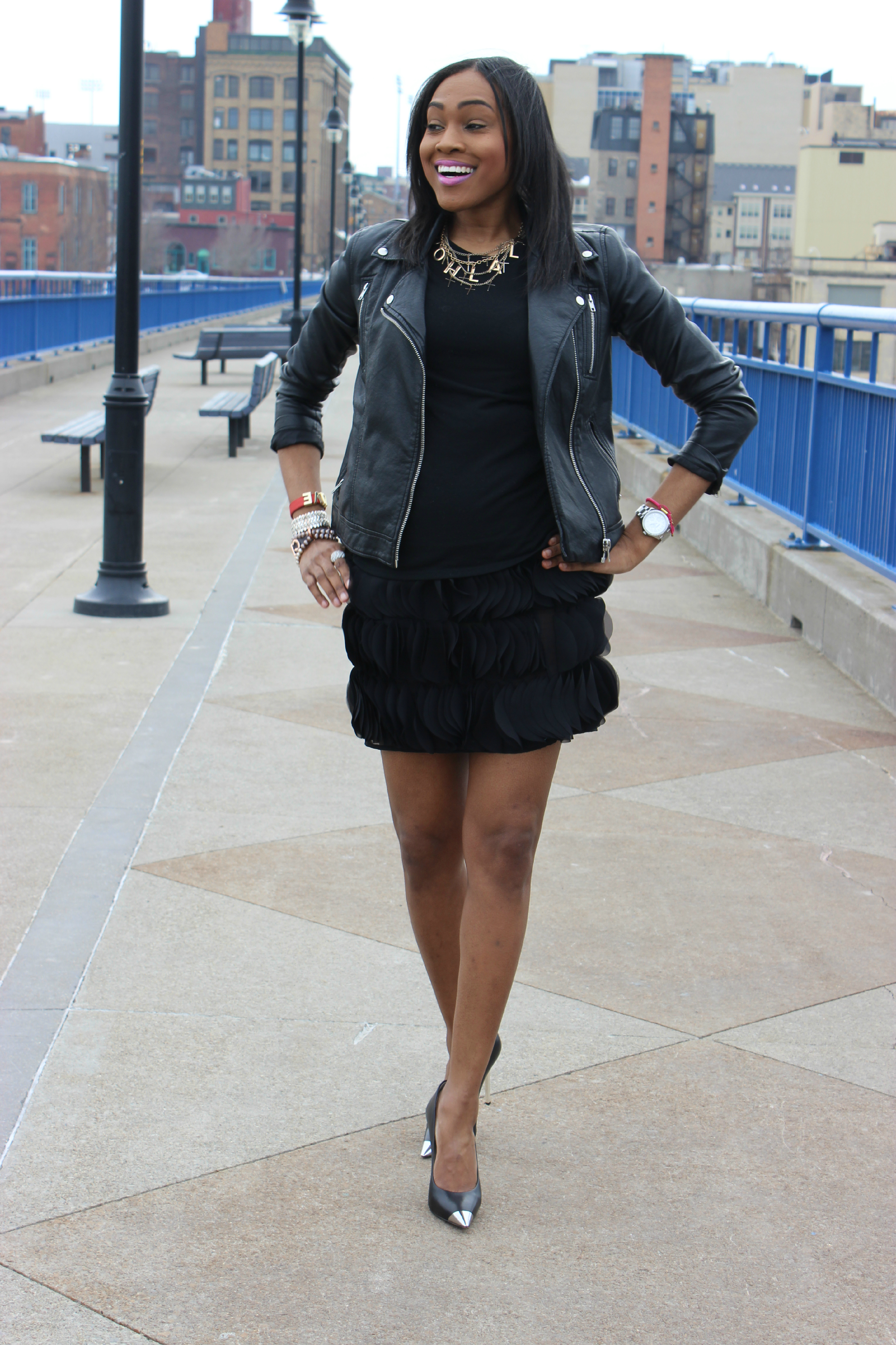 Style-files-Pretty-Price-Black -Moto-Jacket-Michael Kors-Silve-heel-PumPs-Thrifted-Skirt-Oohlalablog-18