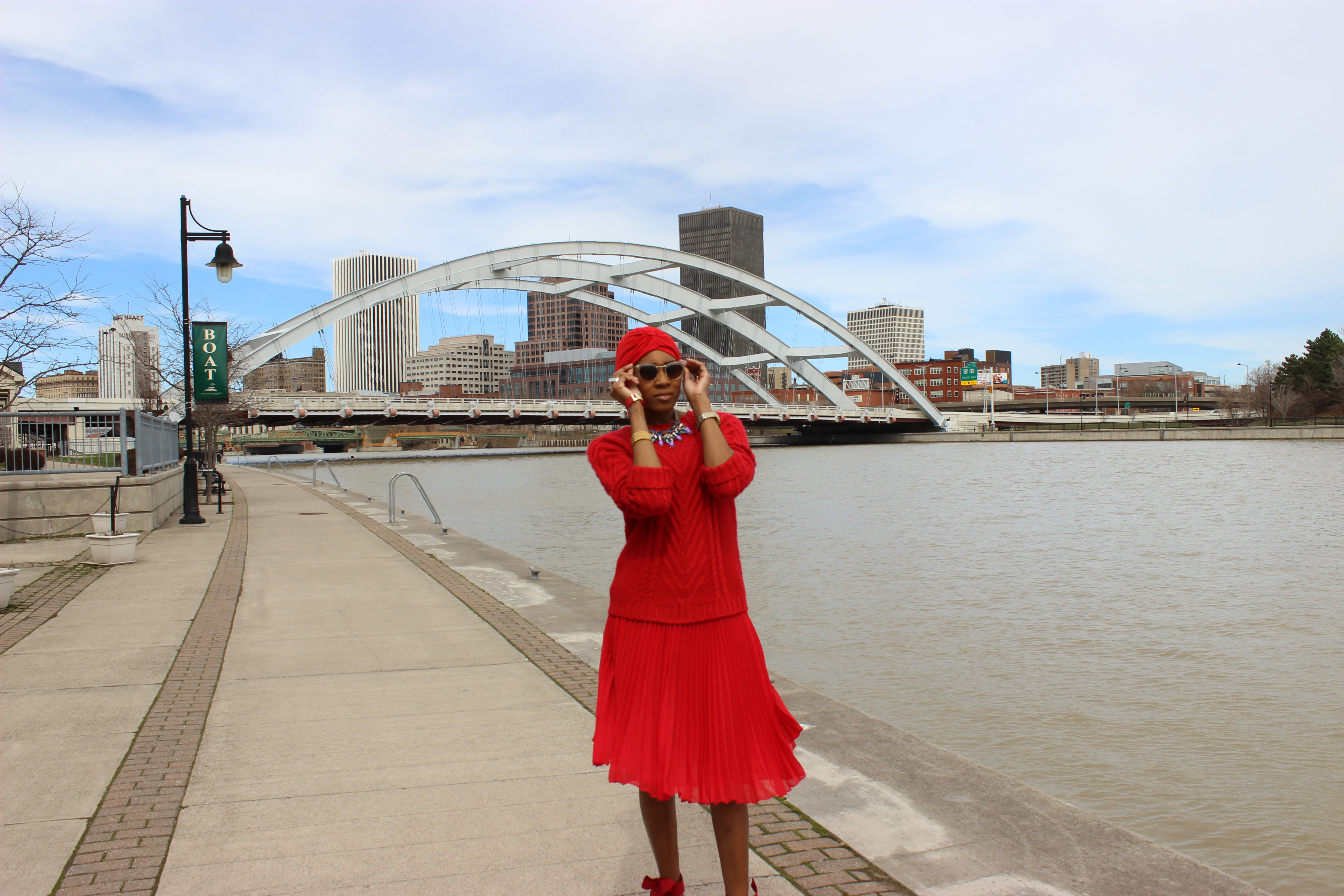 style-files-jcpenney-MNG-red-pleated-skirt-joe-fresh-red-cable-knit-sweater-Just-Fab-Hadley-red-bow-pumps-red-turban-oohlalablog-2