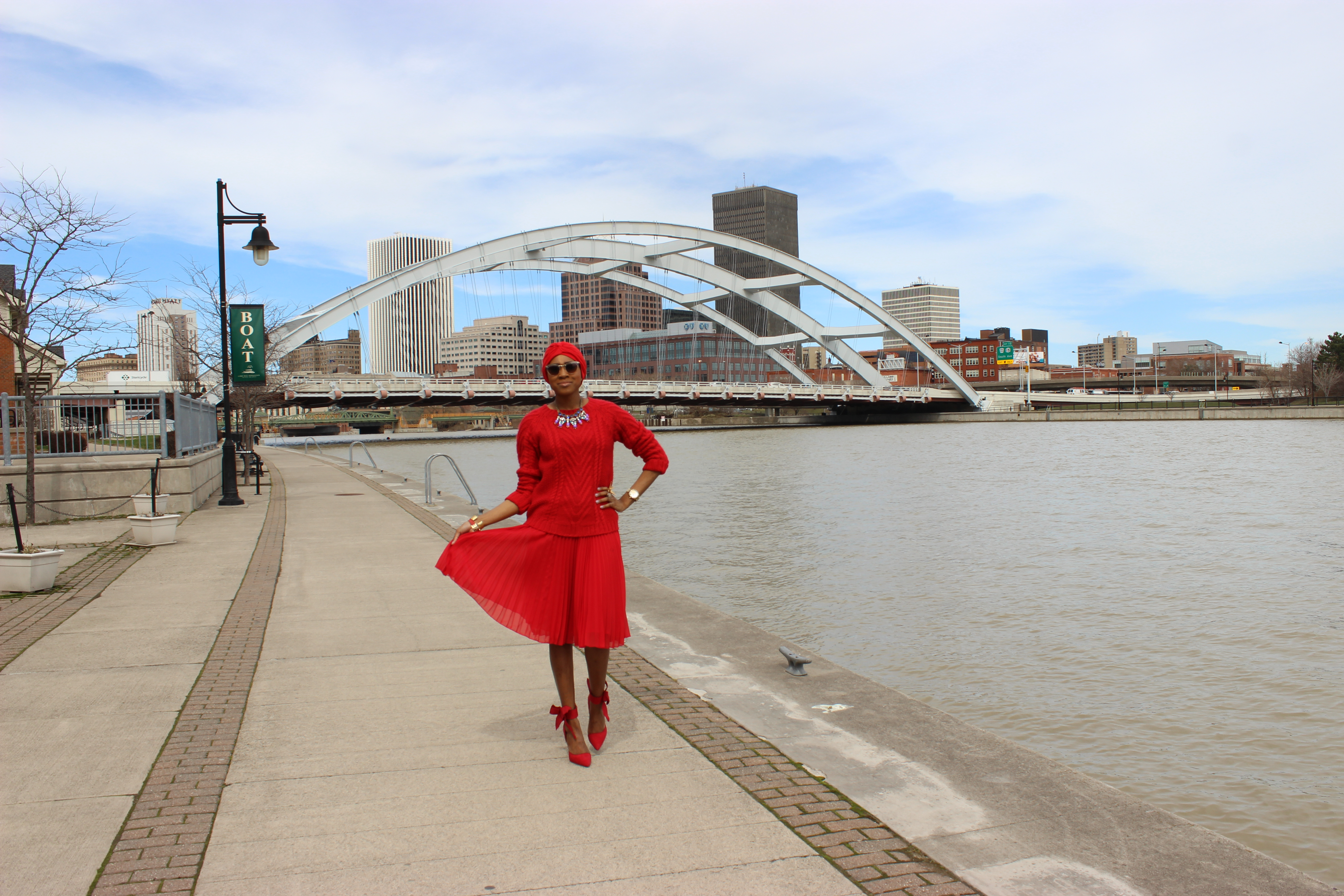 style-files-jcpenney-MNG-red-pleated-skirt-joe-fresh-red-cable-knit-sweater-Just-Fab-Hadley-red-bow-pumps-red-turban-oohlalablog-4