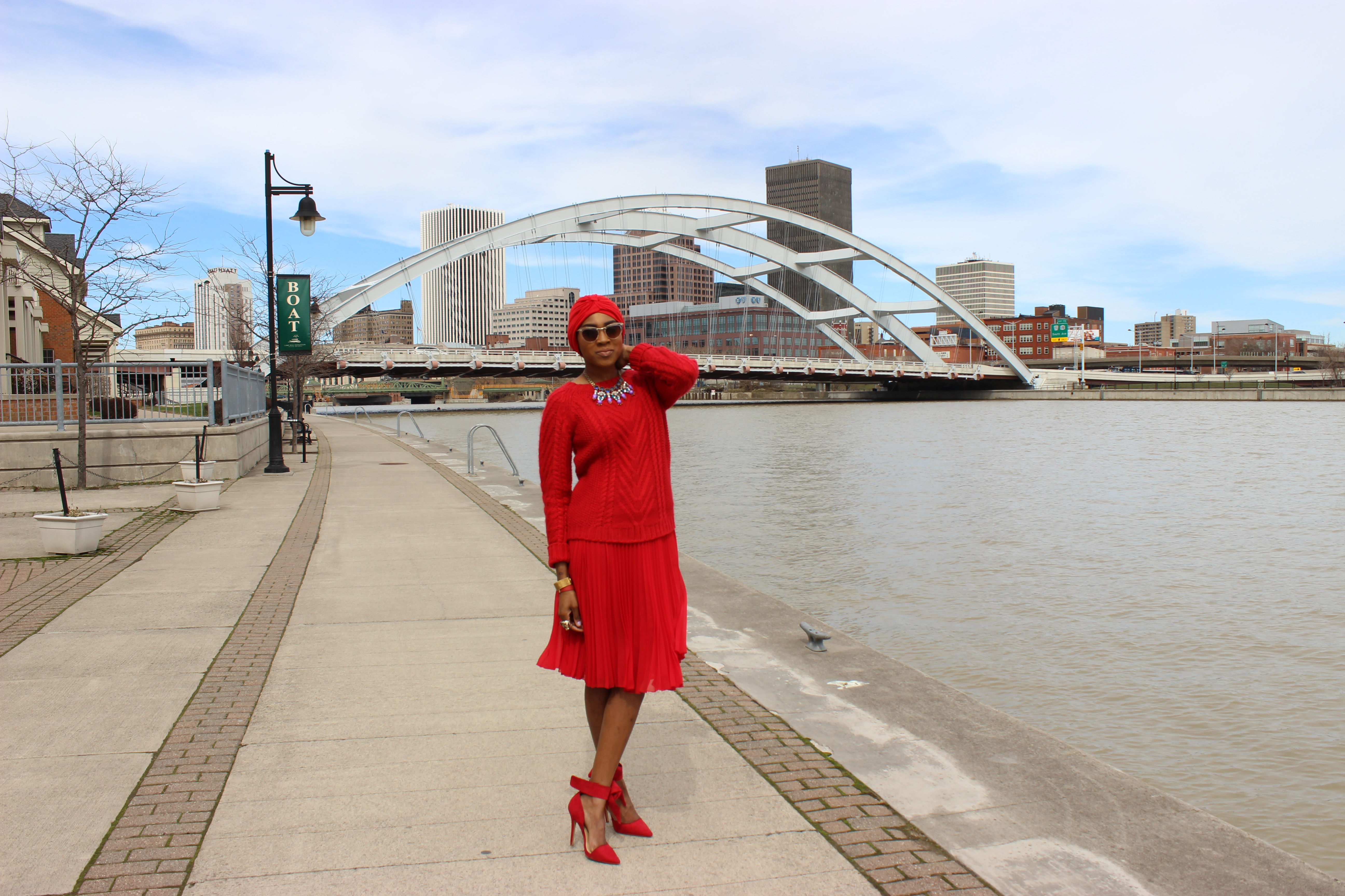 style-files-jcpenney-MNG-red-pleated-skirt-joe-fresh-red-cable-knit-sweater-Just-Fab-Hadley-red-bow-pumps-red-turban-oohlalablog-5