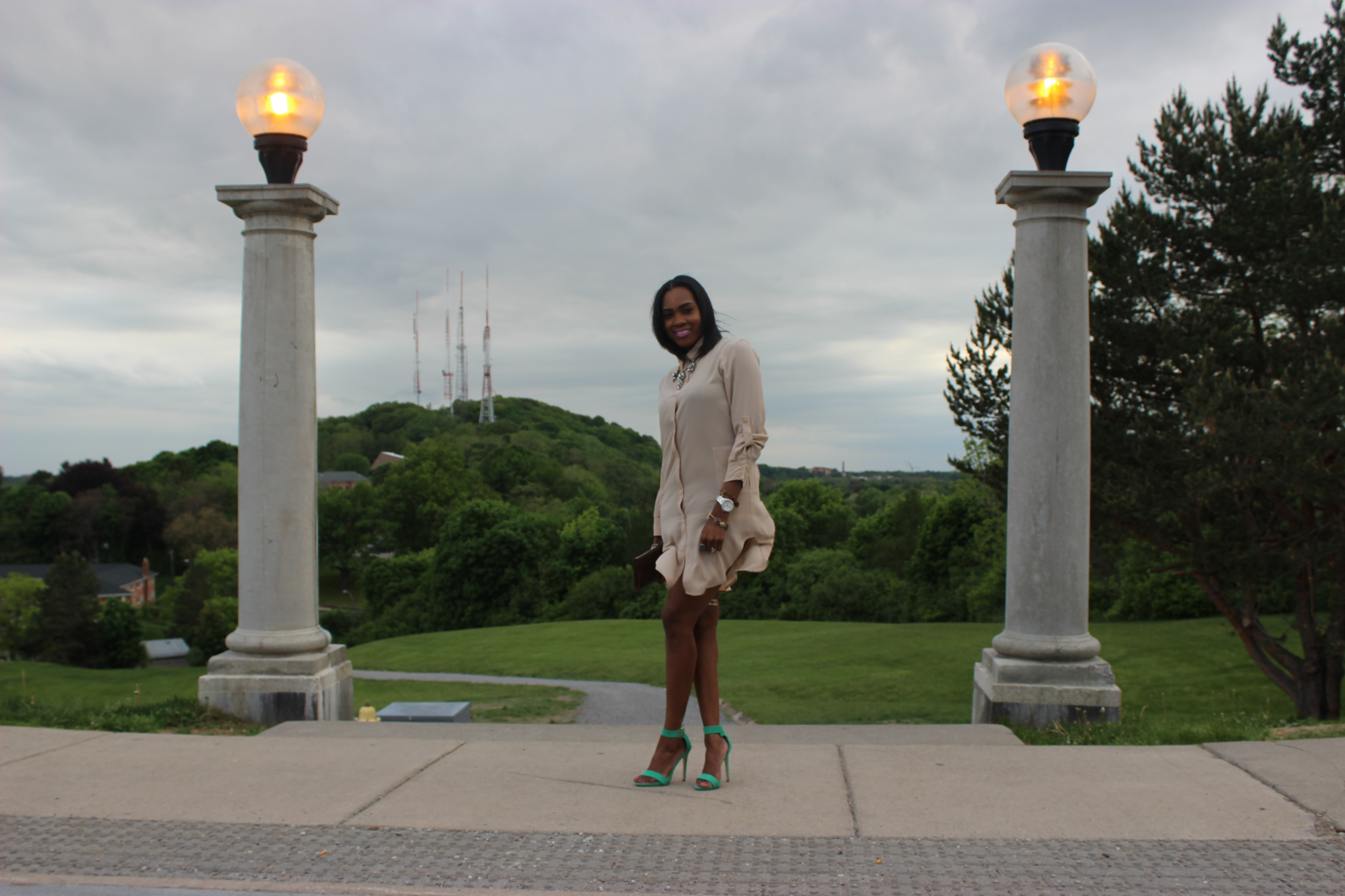 Style-Files-with-Pretty-Price-TJMaxx-Nude-Shirt-Dress-Nude-Tunic-just-fab-Paean-seamfoam-mint-green-ankle-strap-sandals-forever-21-distressed-cut-off-shorts-Pink-turban-justfab-Taesha-leopard-print-lace-up-heel-sandals-14