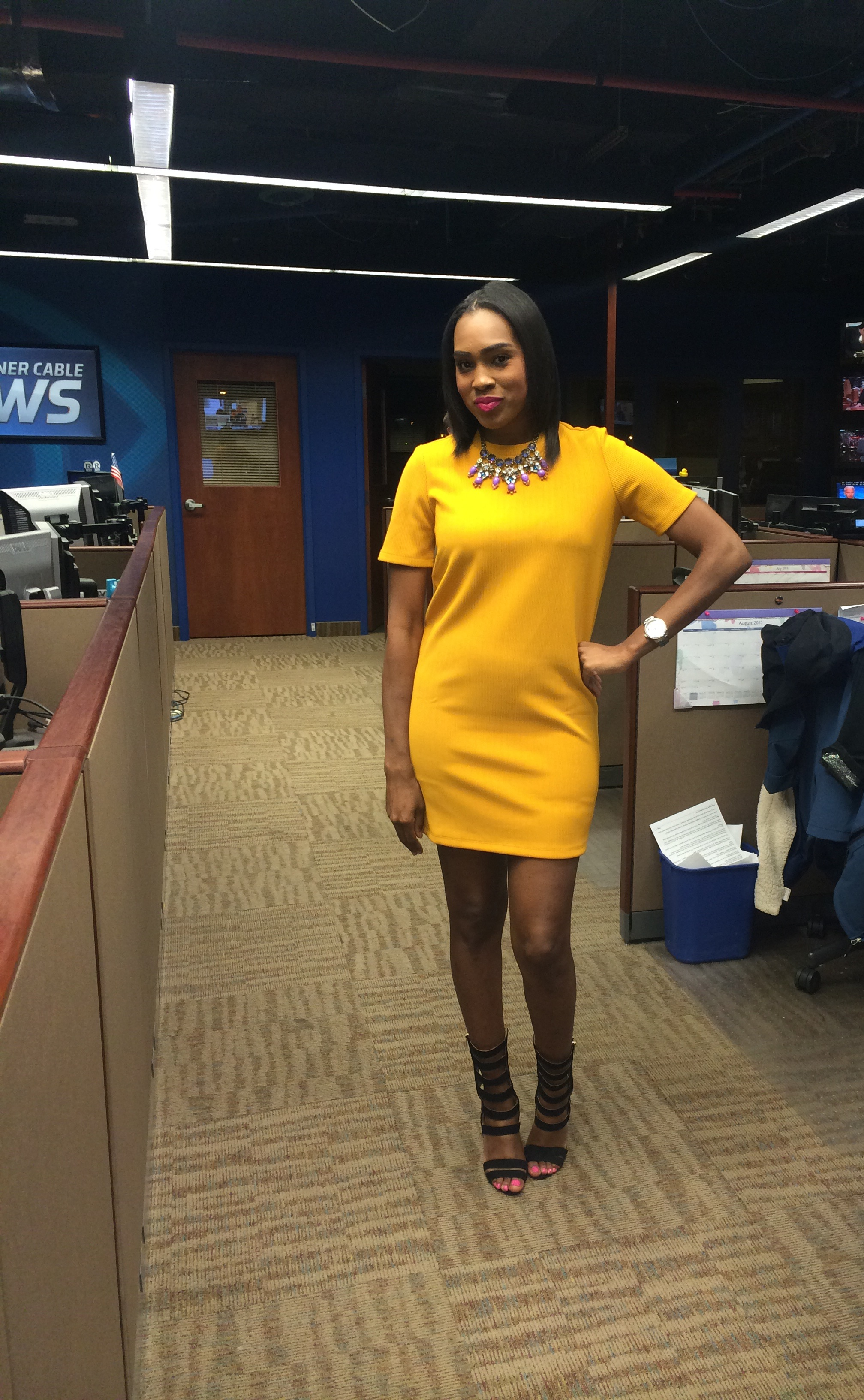 Style-files-forever-21-mustard-textured-stripe-shift-dress-justfab-florernce-heels-oohlalablog-workwear-