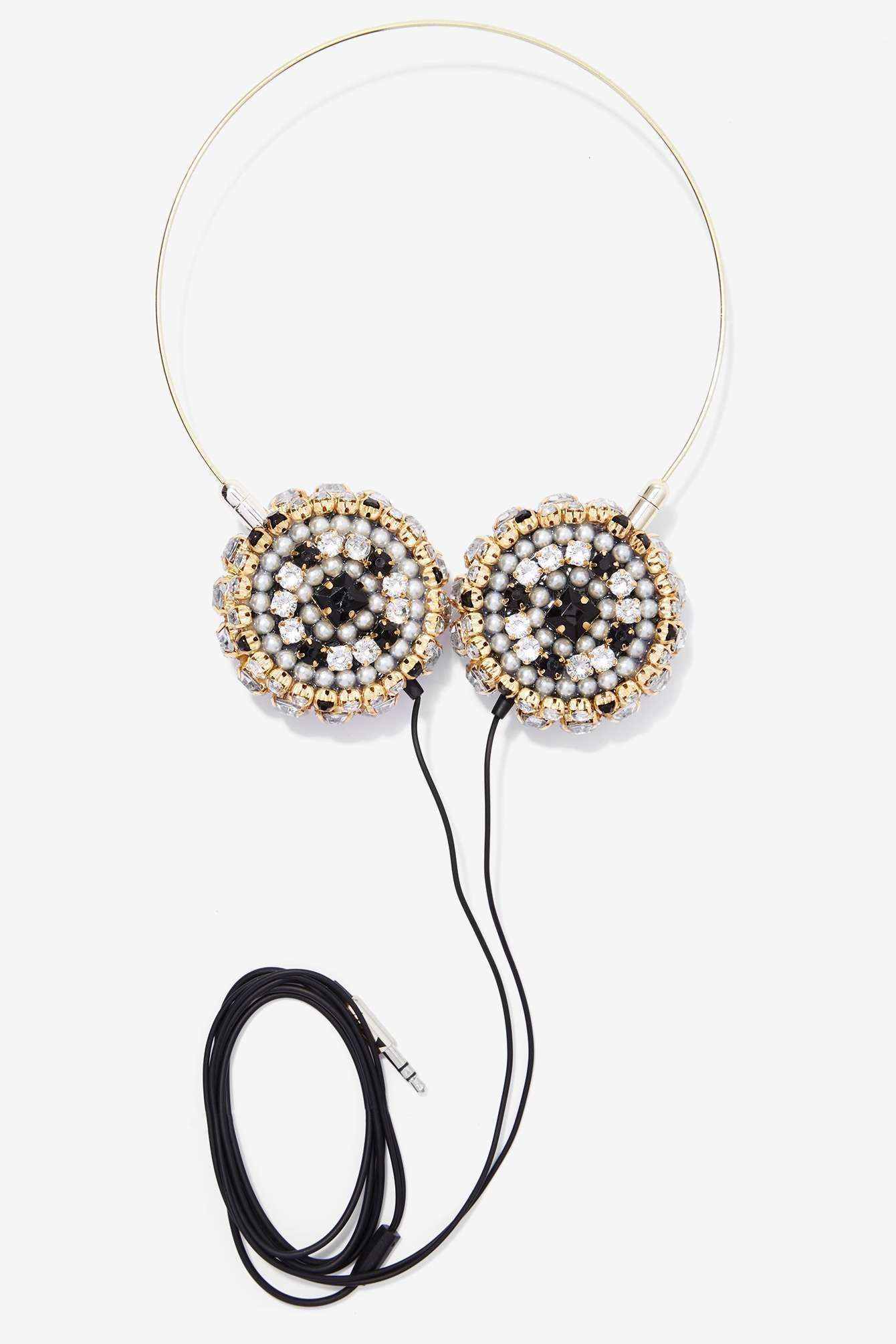 Nasty-Gal-Skinnydip London-Zara -Martin- Bling-Headphones-3