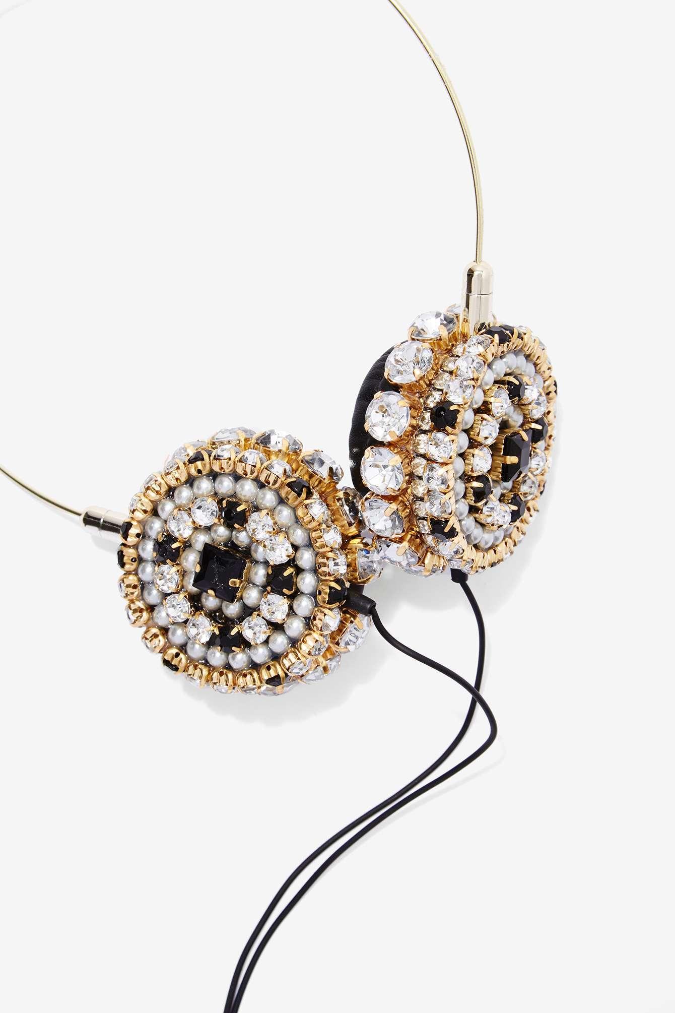 Nasty-Gal-Skinnydip London-Zara -Martin- Bling-Headphones-4