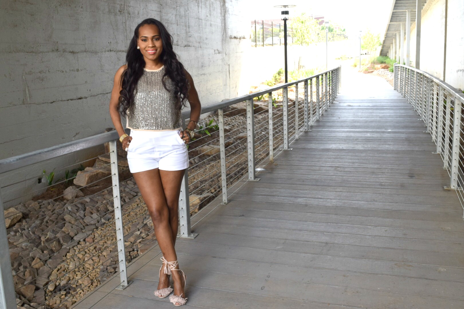 Style-files-Forever-21-Nude-Sheer-Sequin-top-White-forever-21-high-waist-short-justfab-nude-fringe-sandals-mac-cosmetics-volt-lipstick-oohlalablog-10
