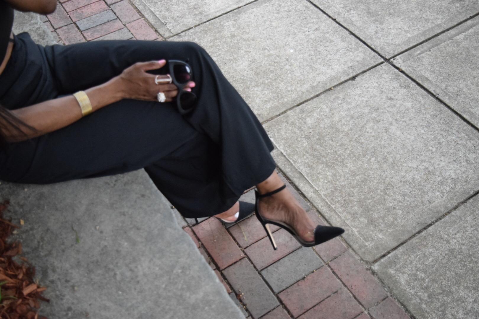 Style-Files-Boohoo-Ira Full Wide Leg Floor Sweeping Trousers-boohoo-Lucy Webbed Lace Choker Body Harness-Forever21-leather-bandeau-mac-cosmetics-faux-lipstick-justfab-catherina-black-heels-Vinyl- DOrsay High Heel-Pumps-Zara-oohlalablog-3