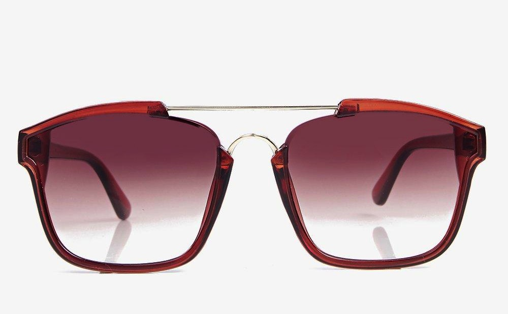 Lucy Metal Bar Rectangle Sunglasses-2