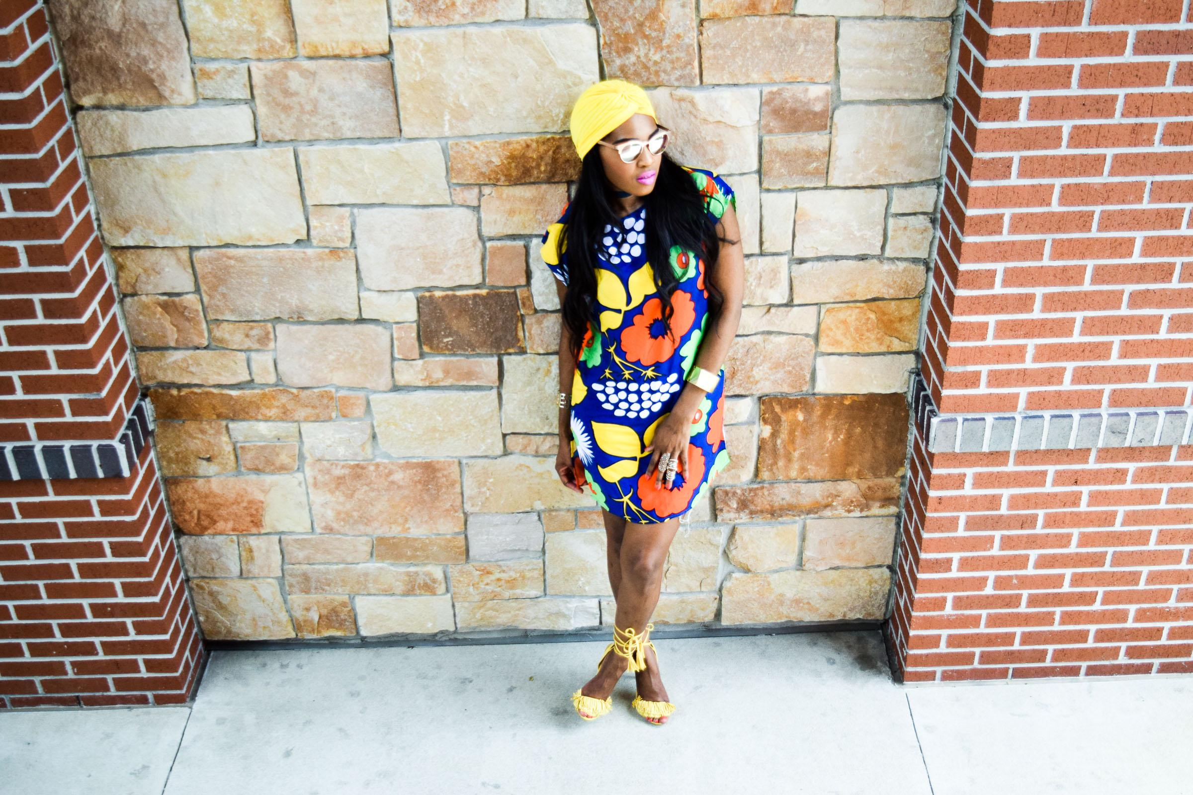 Style-Files-Target-Marimeko-collection -floral-tunic-justfab-tayrey-yellow-fringe-heels-sandals-yellow-turban-asos-denim-choker-oohlalablog-19