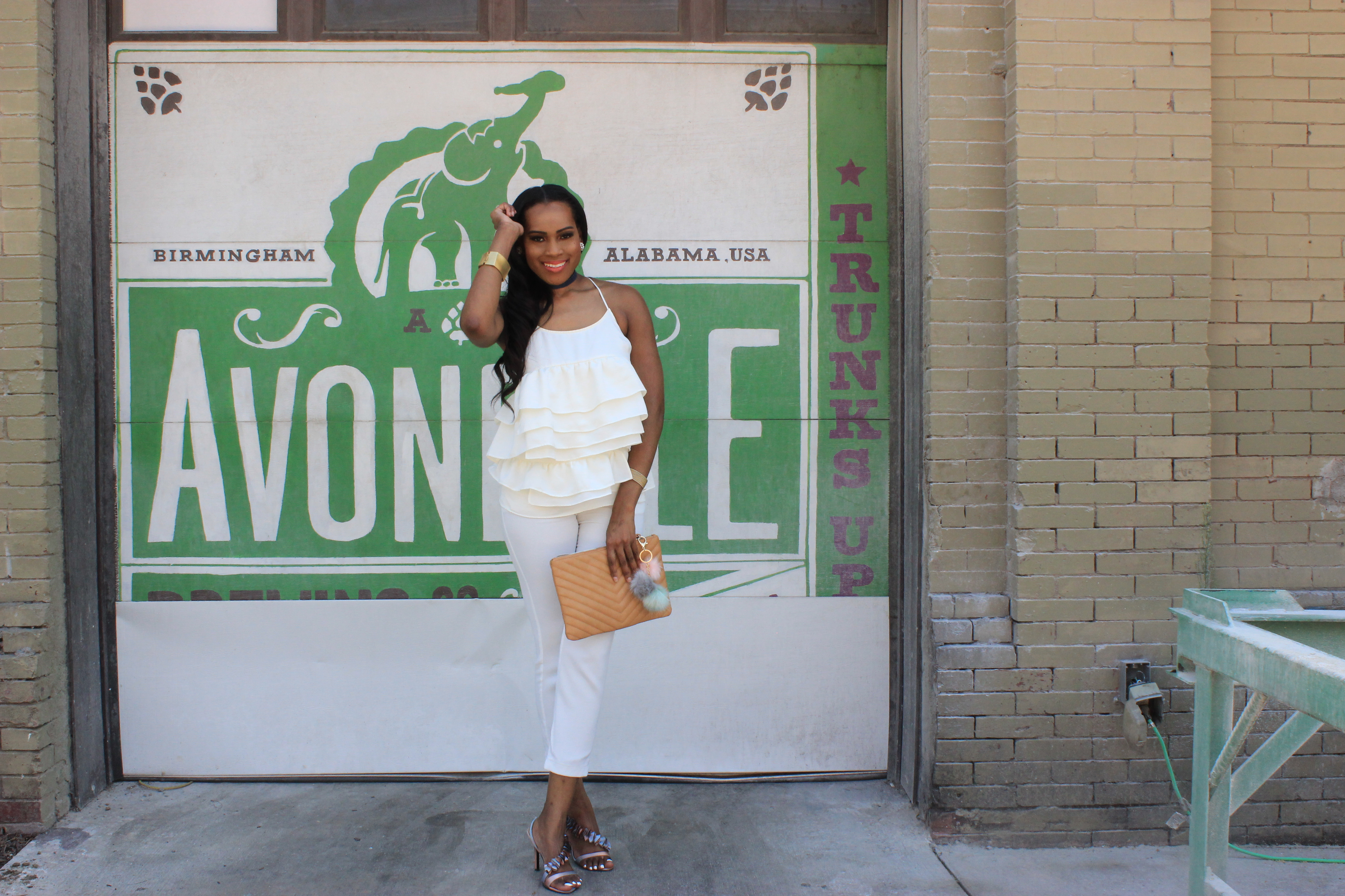 Style-files-who-what-wear-cream-silk-ruffle-tank-target-who-what-wear-ruffle-tank-sophie-rue-white-ankle-pants-from-tjmaxx-thrifted-nina-newyork-ruffle-slingback-sandals-all-white-style-inspiration-oohlalablog-