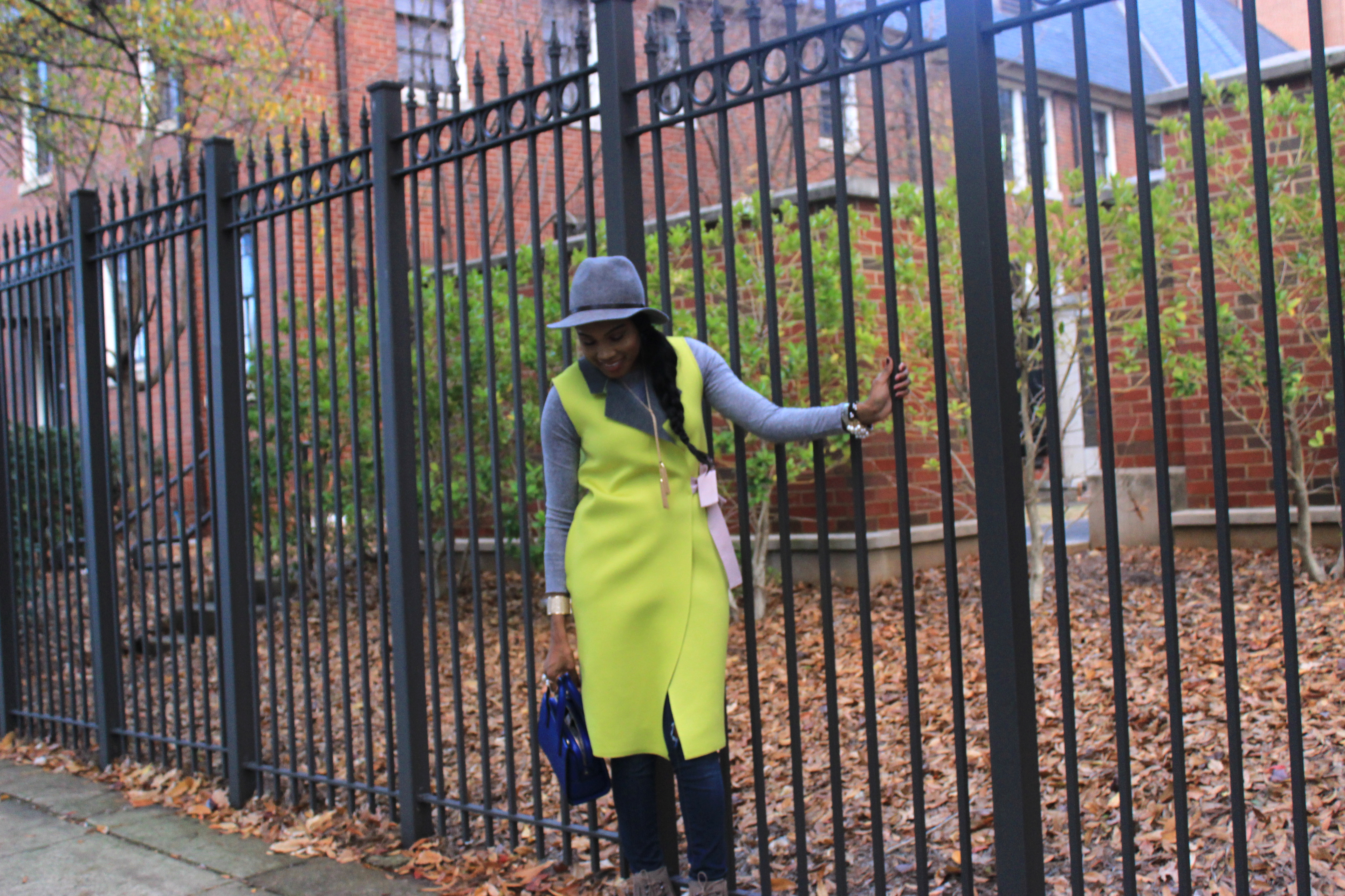 Style-Files-SheIn-Yellow Double-Face-Sleeveless Wrap-Coat-Jessica-Simpson-jeans- Forever21-grey-fedora-Kenneth-Cole-Newyork-Natural-Olla Fringe-Suede Boots-oohlalablog-10