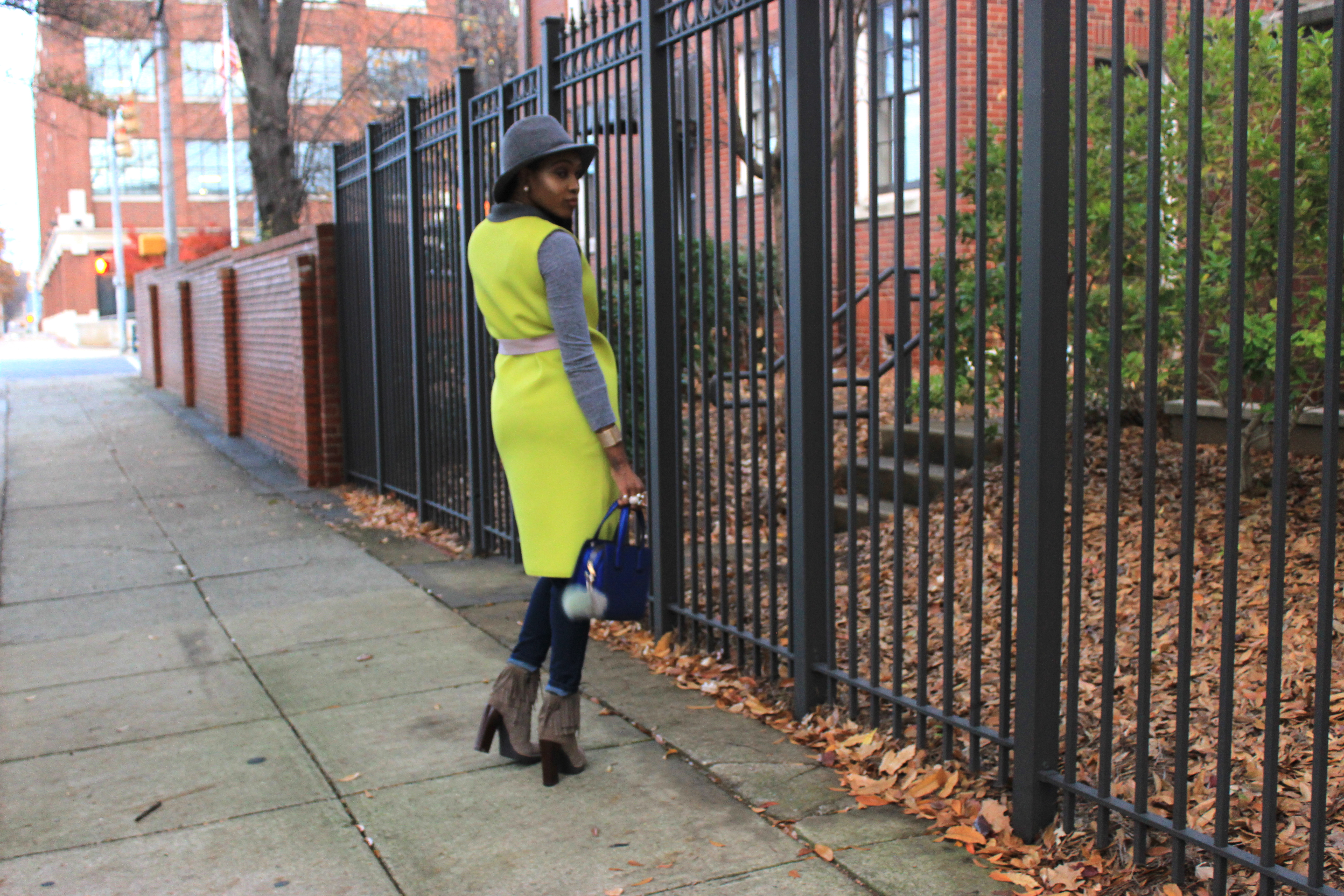 Style-Files-SheIn-Yellow Double-Face-Sleeveless Wrap-Coat-Jessica-Simpson-jeans- Forever21-grey-fedora-Kenneth-Cole-Newyork-Natural-Olla Fringe-Suede Boots-oohlalablog-11