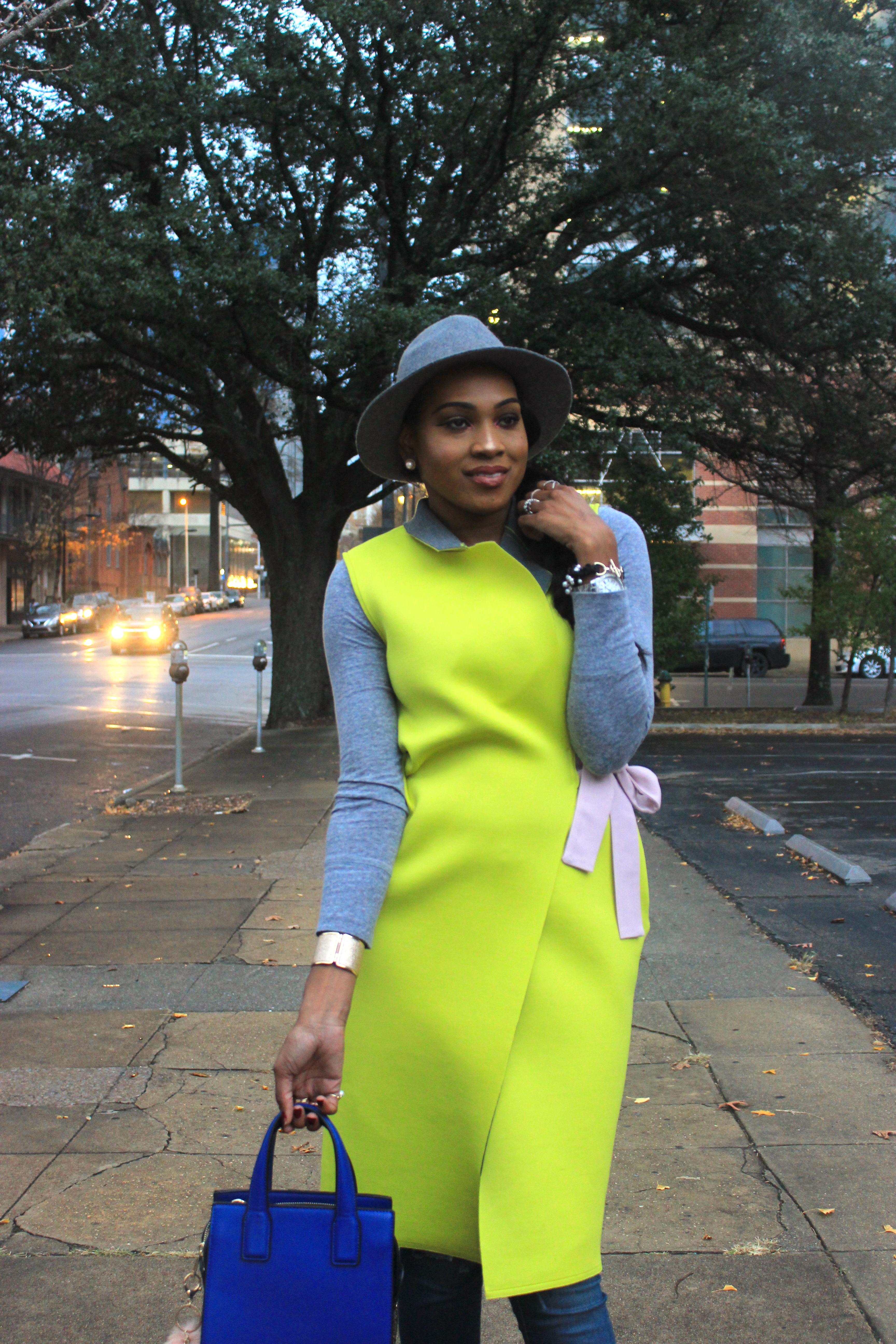 Style-Files-SheIn-Yellow Double-Face-Sleeveless Wrap-Coat-Jessica-Simpson-jeans- Forever21-grey-fedora-Kenneth-Cole-Newyork-Natural-Olla Fringe-Suede Boots-oohlalablog-8