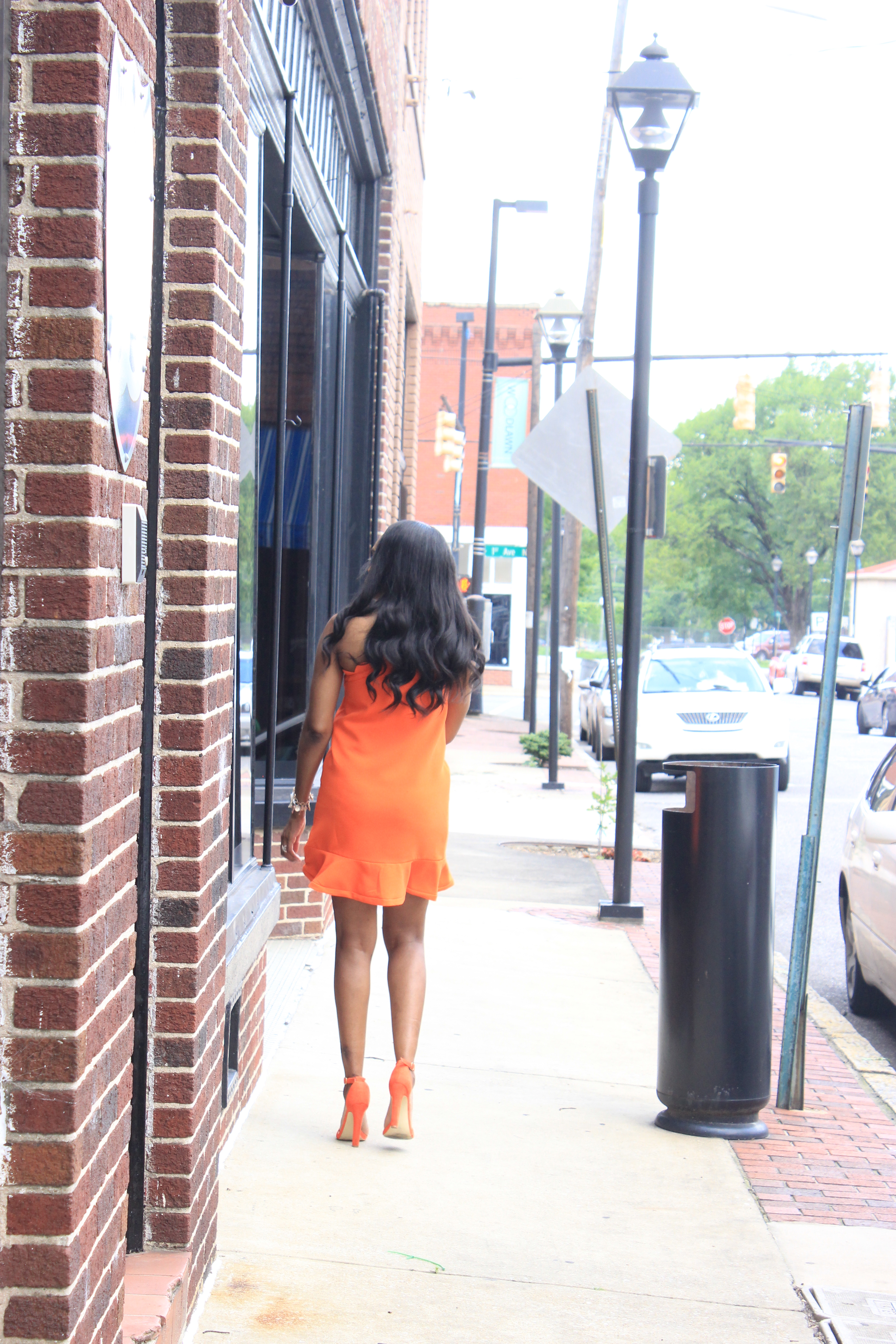 Style-Files-Orange-One Shoulder Dress-with-Bow and-Scallop-Trim-Victoria Beckham-for-Target-How-to-wear-victoria-beckham-for-target-Victoria-Beckham-for-Target-Review-Justfab-orange-kati-ankle-strap-sandals-oohlalablog-5
