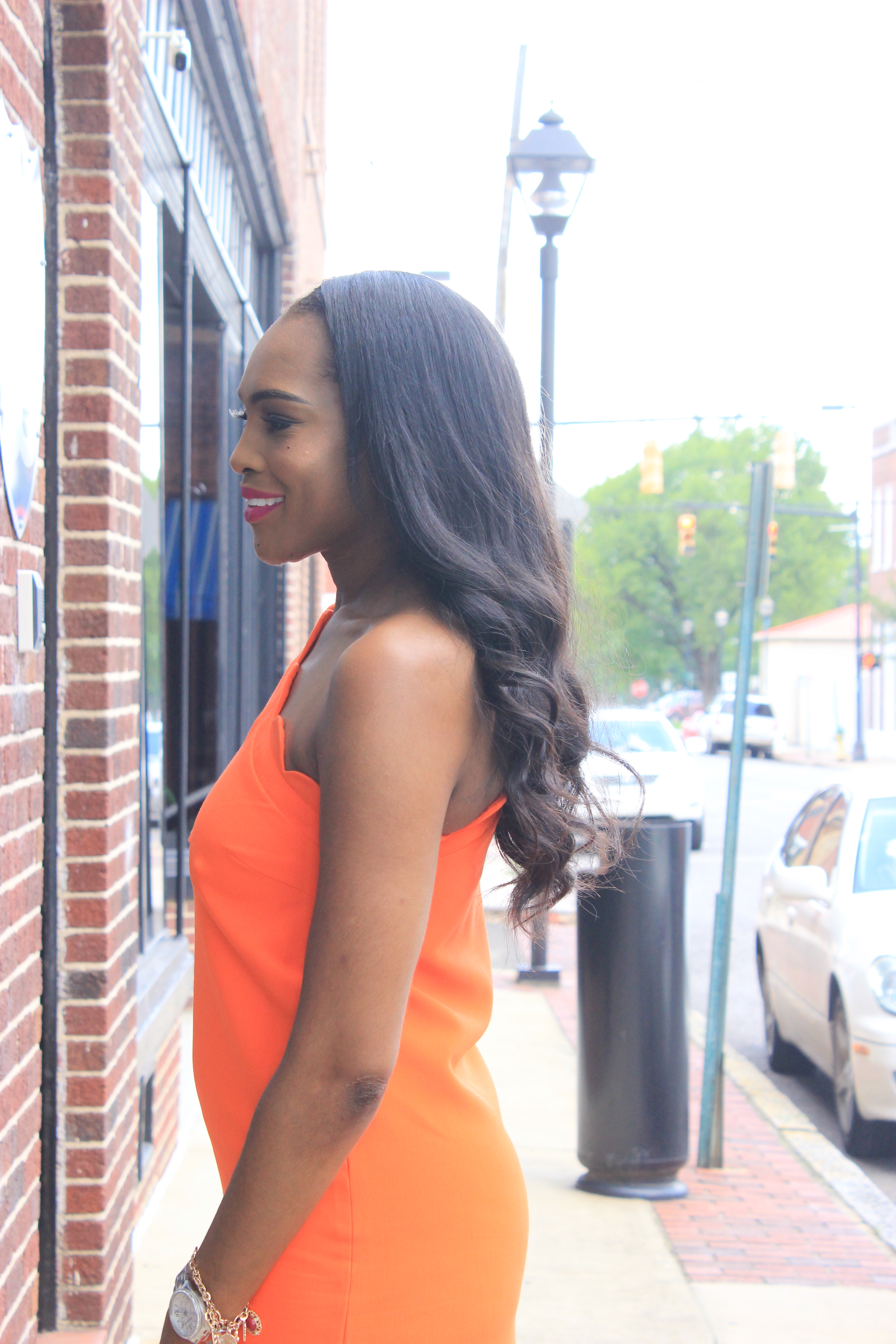 Style-Files-Orange-One Shoulder Dress-with-Bow and-Scallop-Trim-Victoria Beckham-for-Target-How-to-wear-victoria-beckham-for-target-Victoria-Beckham-for-Target-Review-Justfab-orange-kati-ankle-strap-sandals-oohlalablog-6