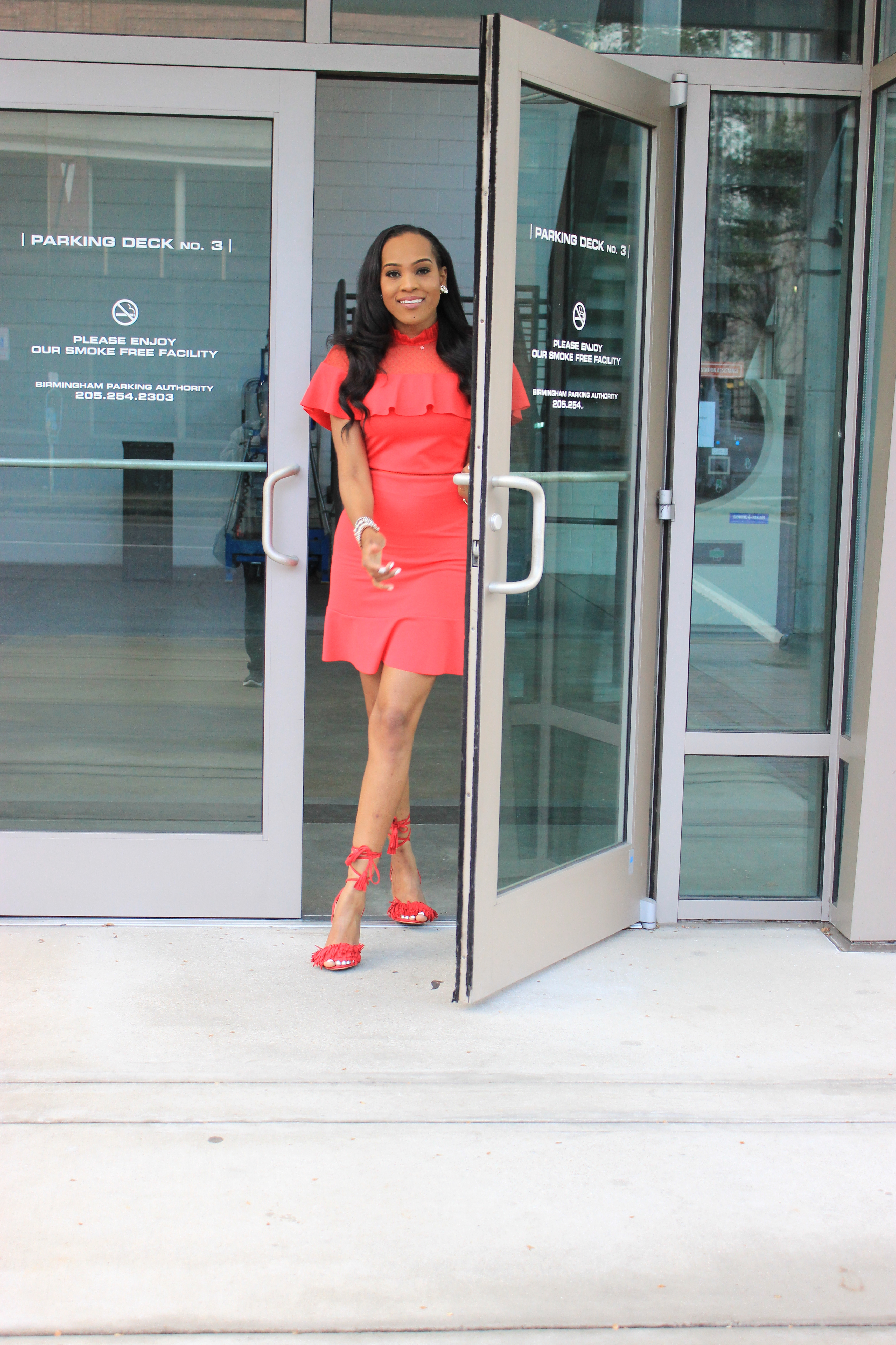 Style-files-Asos-Skater-Dress-with-Dobby-mesh-panel-red-skater-dress-asos-red-skater-dress-red-fringe-justfab-heels-justfab-red-tayrey-heel-sandals-oohlalablog-3