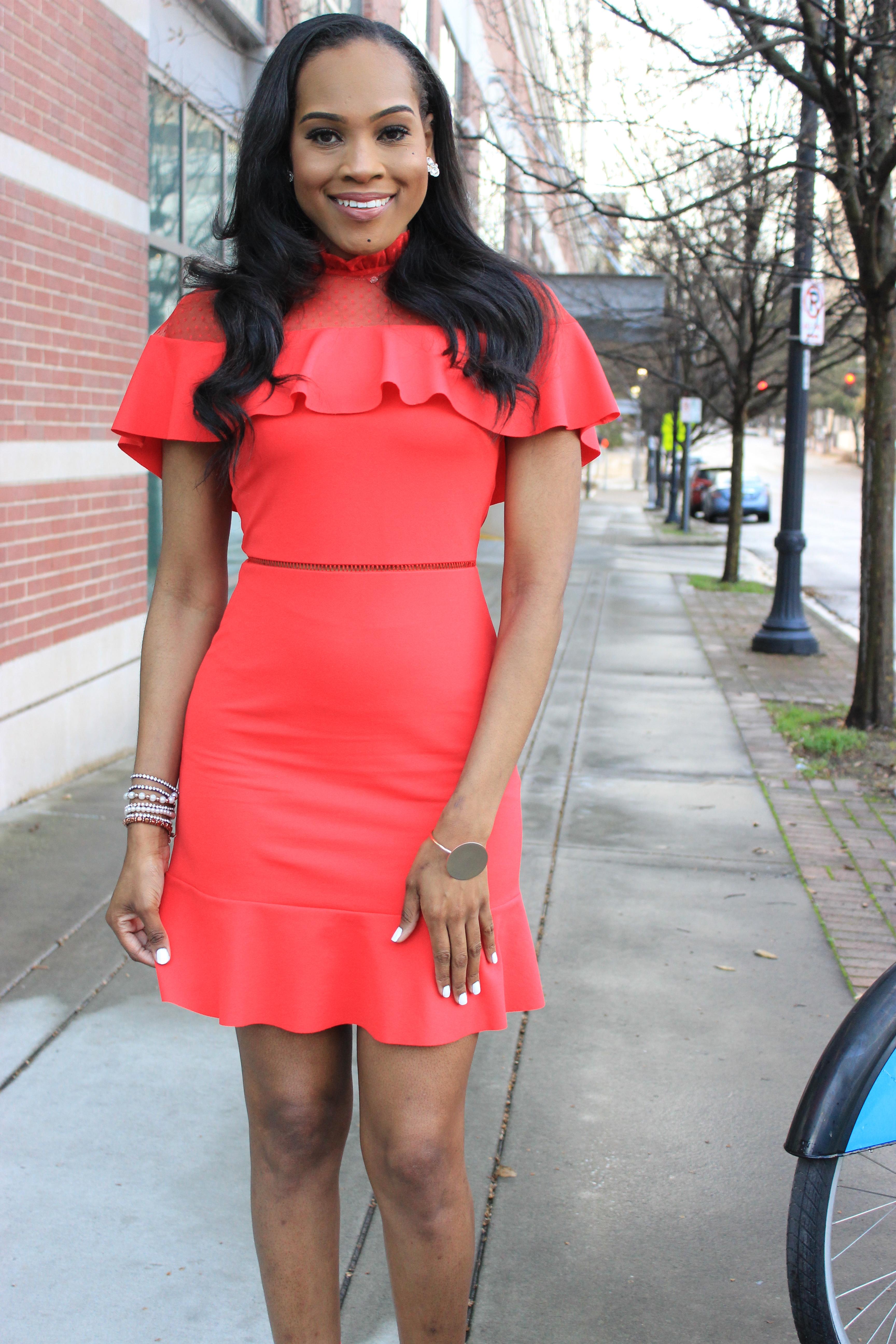 Style-files-Asos-Skater-Dress-with-Dobby-mesh-panel-red-skater-dress-asos-red-skater-dress-red-fringe-justfab-heels-justfab-red-tayrey-heel-sandals-oohlalablog-6