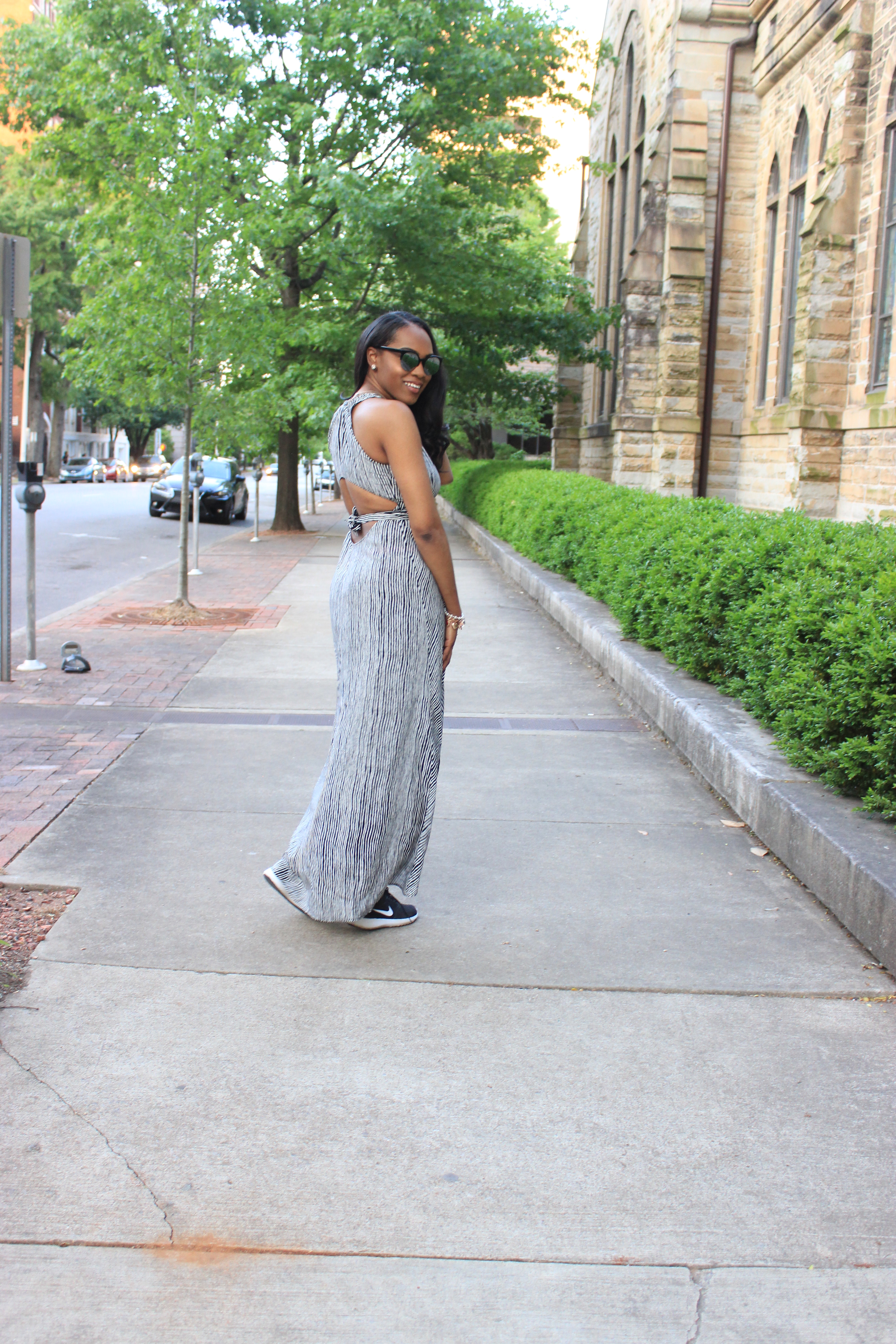 Style-files-forever 21- striped -black-and-white-open-back-maxi-dress-nike-black-white-Women-Juvenate-Lifestyle-Shoes-women-lifestyle-sneakers-birmingham-top-bloggers-oohlalablog-5